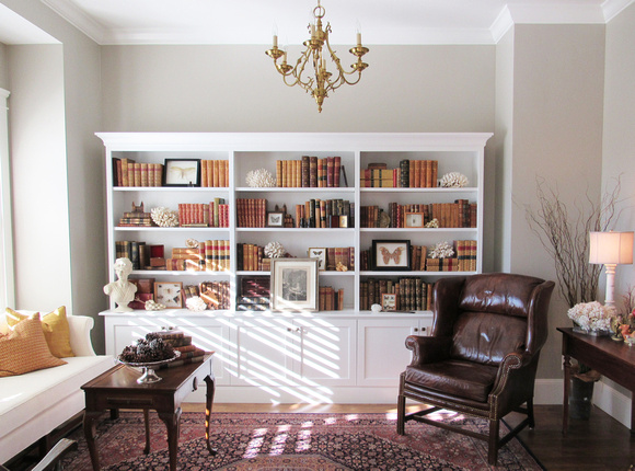 White Bookcase Wall Unit