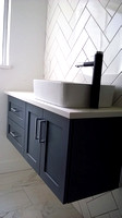 Blue Floating Bathroom Vanity