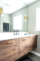 Modern Floating Bathroom Vanity in Walnut