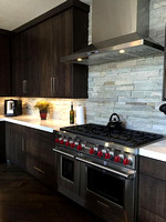 Rift White Oak Modern Kitchen with Charrred Oak Stain