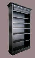 Black Panel Bookcase with molding